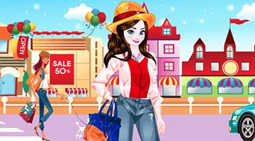 Игра Elsa Go Shopping