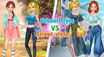 Игра School Style vs Street Style